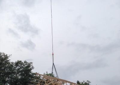 Sättning av takstol